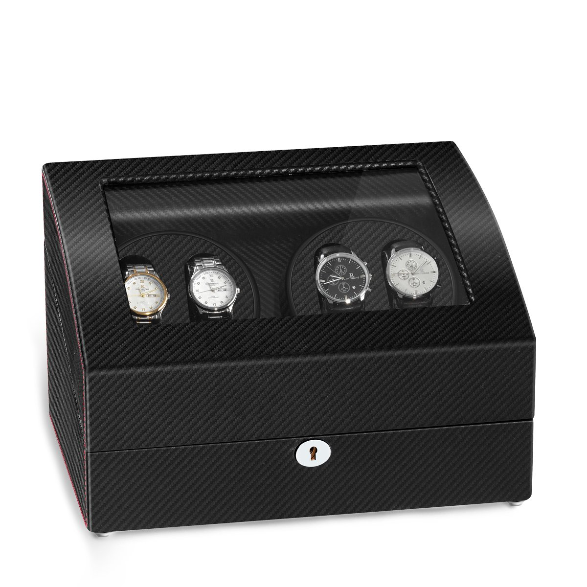 JQUEEN Quad Automatic Watch Winder Six Storage Case