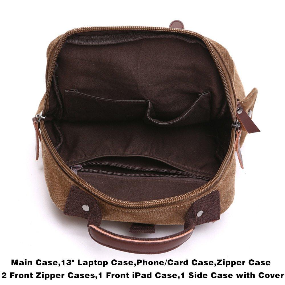 Amazon.com | Mochilas de Mujer, Vintage Canvas Backpack Outdoor Hiking Travel Rucksack School | Backpacks