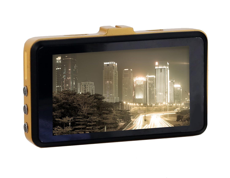 Loop Recording /& 3 LCD Black Loop Recording /& 3 LCD Minolta MNCD53-BK Full HD 1080p Wide Angle Car Dashboard Camera with G-Sensor WDR