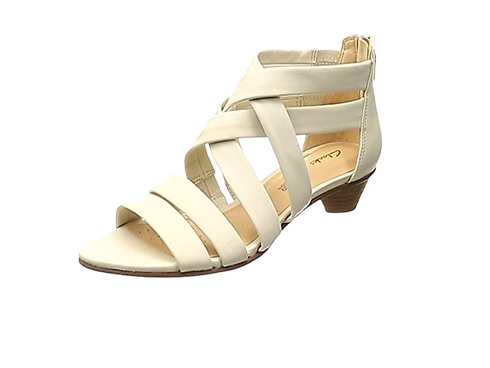 best place for world-wide selection of search for authentic Clarks MENA Silk Leather Sandals in White