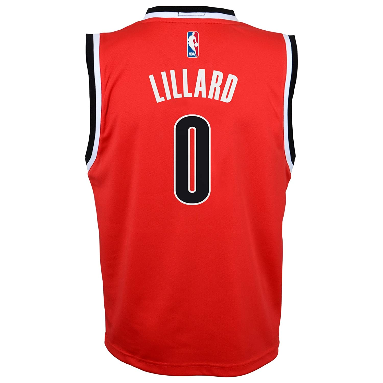 huge selection of 09c01 ced16 NBA Youth 8-20 Portland Trail Blazers Lillard Replica Alternate  Jersey-Red-S(8)