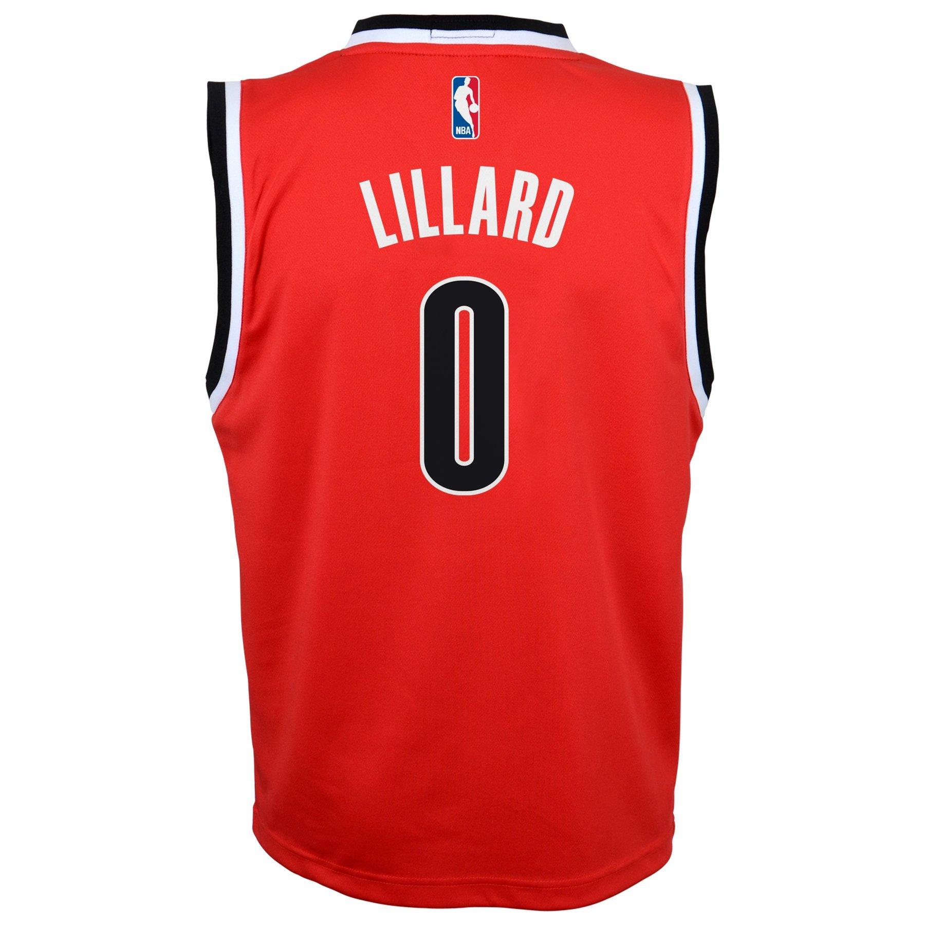 Youth Portland Trail Blazers Damian Lillard adidas Black
