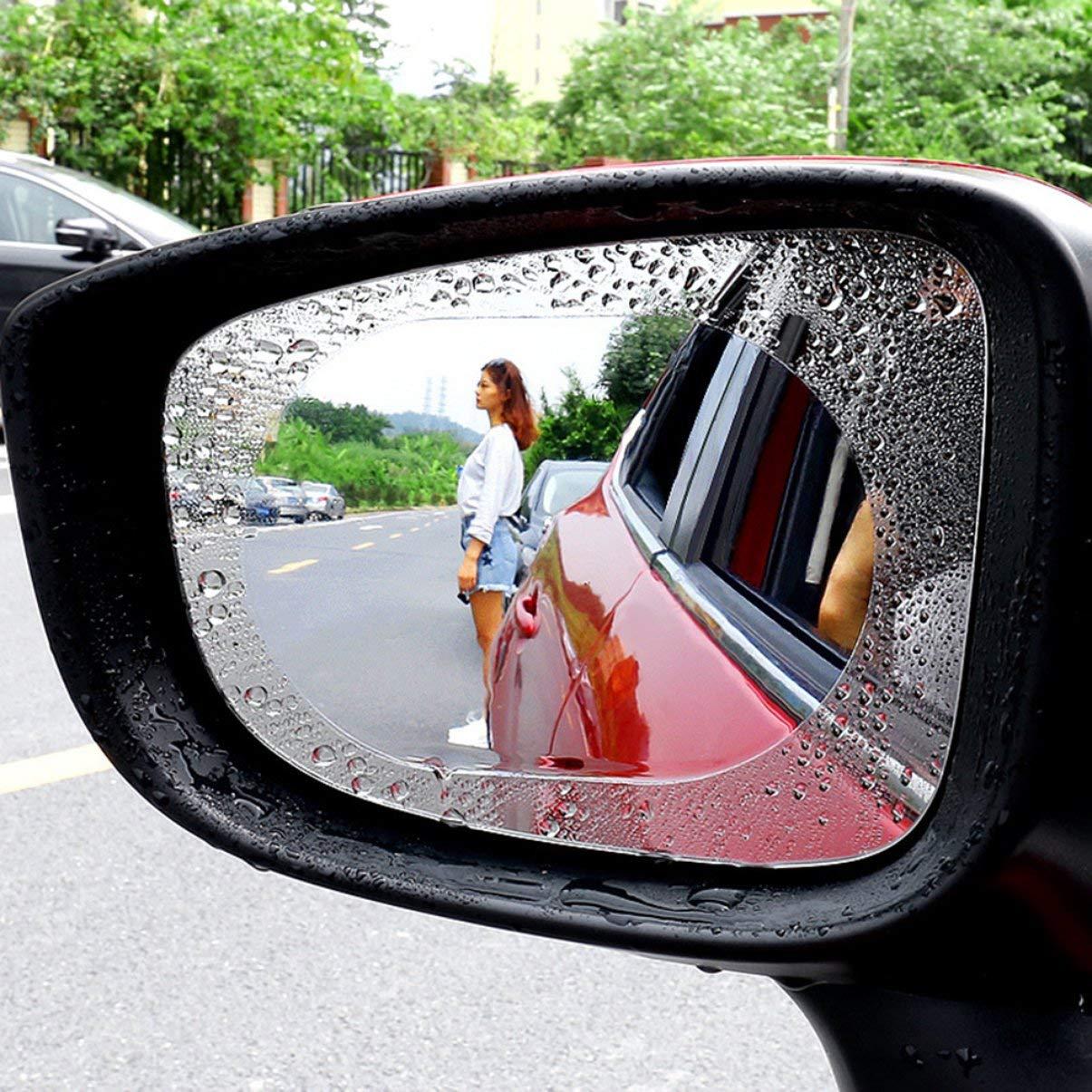 Auto R/ückspiegel Regenschutzfolie Auto R/ückspiegel Regenschutzfolie Regenwasserantrieb Hydrophobe Folie Wasserdichtes Folienpaar