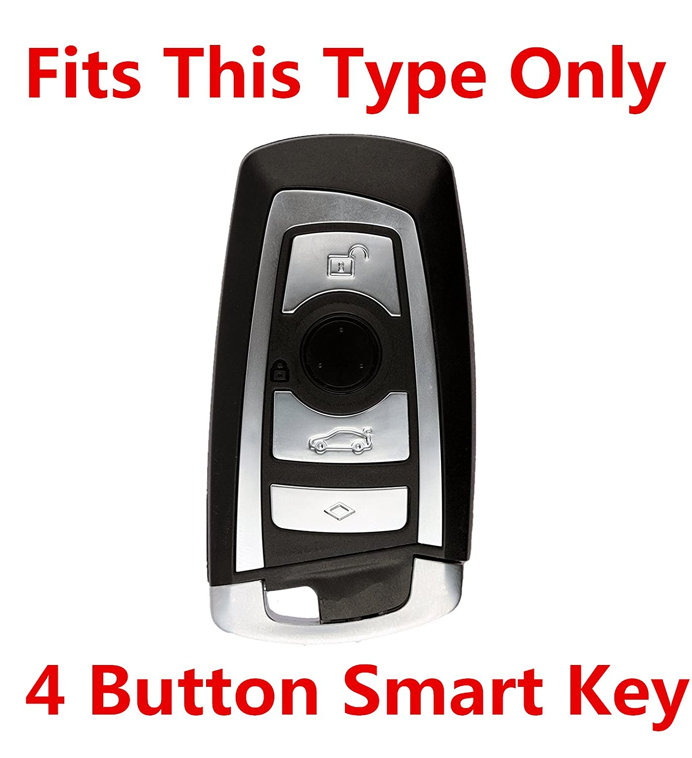 Rpkey Silicone Keyless Entry Remote Control Key Fob Cover Case protector For BMW 1 3 5 6 7 Series YGOHUF5662 ASD