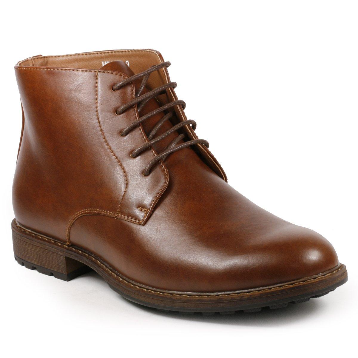 Metrocharm MC132 Men's Lace up Casual Fashion Ankle Chukka Boots (10, Brown) by Metrocharm