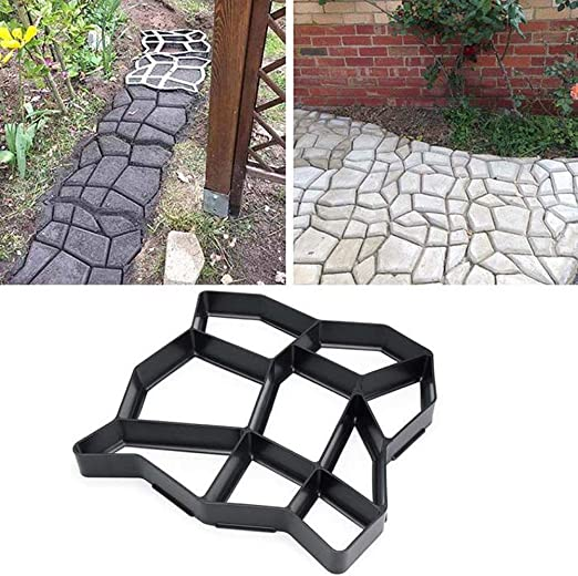 FGASAD Molde para hacer caminos, reutilizable para hormigón, moldes para hacer caminos, ladrillos de pavimentación para patio, jardín, herramienta decorada: Amazon.es: Hogar