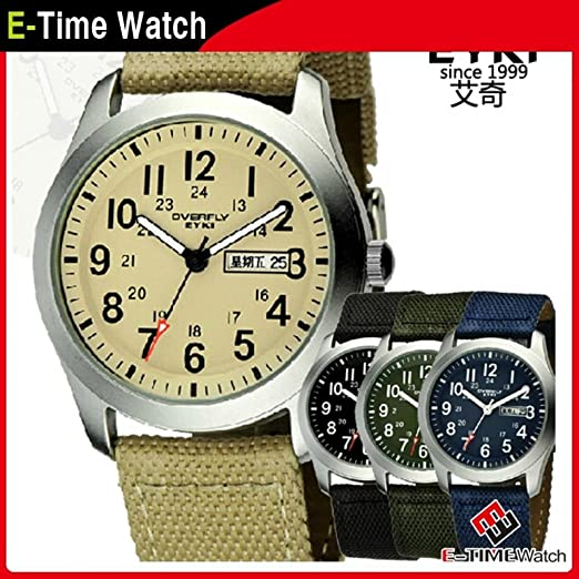 Amazon.com : Orders Forever Eyki Brand Men Military Watches Relogio Militar Casual Nylon Strap Male Quartz Watch Men Sport Wristwatch Relojes Deportivos ...