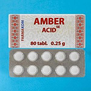 Succinic Acid Amber Acid 80 Tabs/0.25g