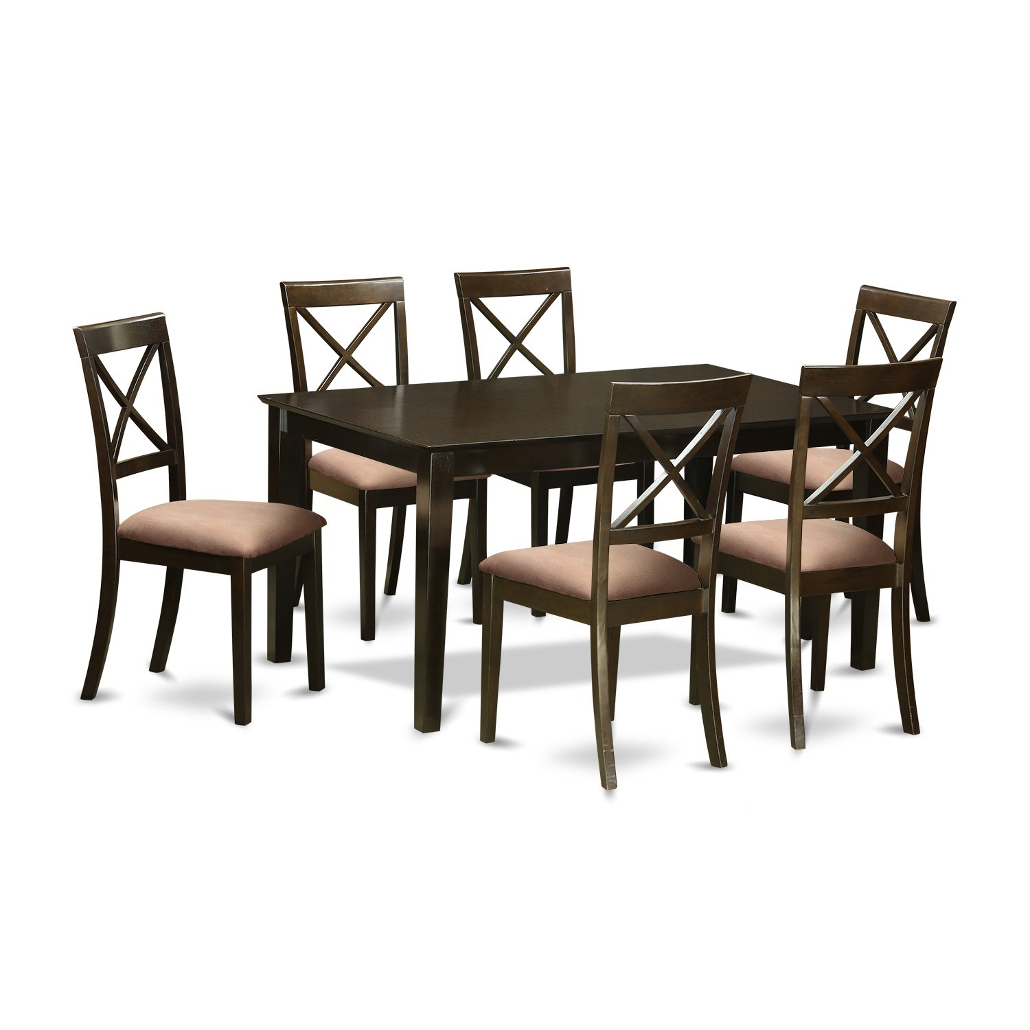 CABO7S-CAP-C 7 Pc Dining set-Dining Table and 6 Microfiber Dining Chairs