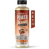 Omega PowerCreamer - Keto Coffee Creamer (Cinnamon Roll) - Sugar Free - Grass-fed Ghee, MCT Oil, Organic Coconut Oil…