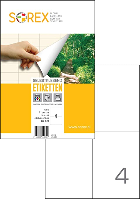 White Self Adhesive Blank A4 Printer Address Labels Matt Stickers 48 Per Sheet