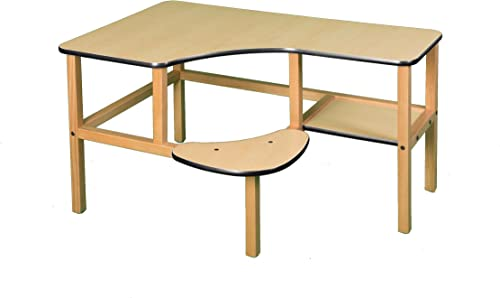 Wild Zoo Furniture Childs Wooden Computer Desk for 1, Ages 2 to 5, Maple Black
