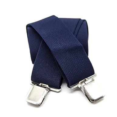 f0986e9d3 TB1 Homme Bretelles Heavy Duty Durable 50MM Larges Bretelles Pour Hommes 4  Clips X-Back Bretelles Élastiques Réglables pour Hommes avec Clip en ...