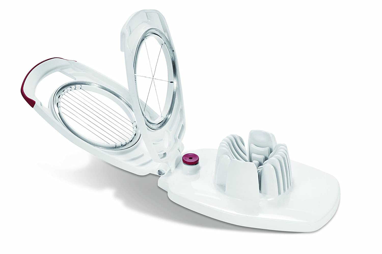 Zyliss Egg Slicer - Non Slip, Egg Cutter and Wedger with Built in Shell Piercer by Zyliss 11970