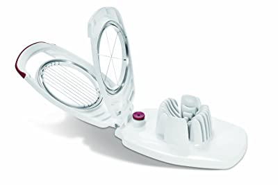 ZYLISS Egg Slicer - Non Slip, Egg Cutter and Wedger with Built in Shell Piercer