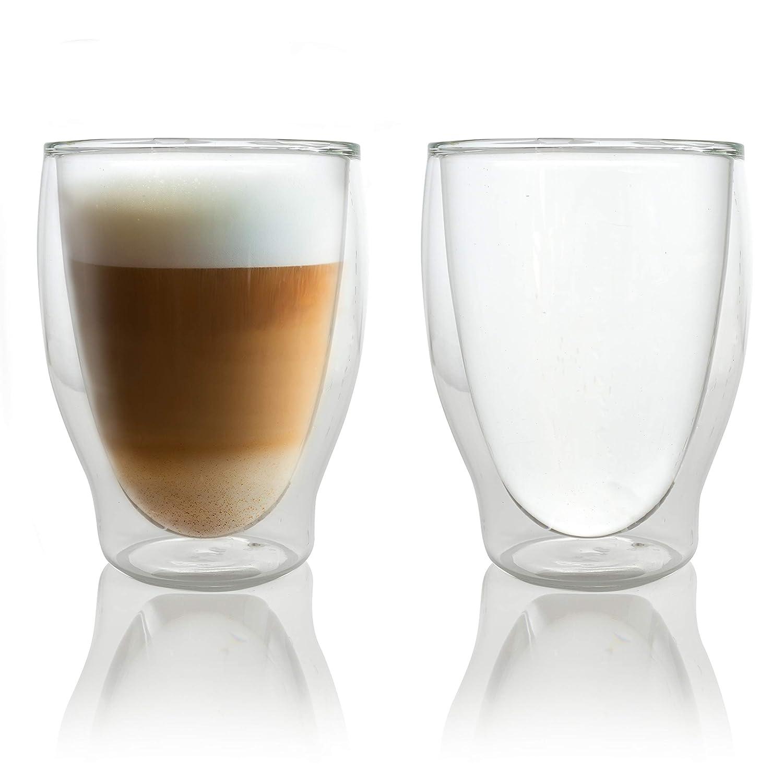 Caffé Italia Milano 6 x 250 ml Double Wall Thermo Glasses - für Latte Macchiato Tea Hot and Cold Drinks - dishwasher safe iLP GmbH