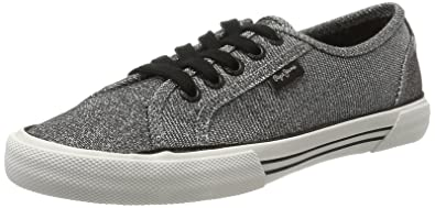 London Aberlady Nuit, Sneakers Basses Femme, Argent (Chrome), 40 EUPepe Jeans London
