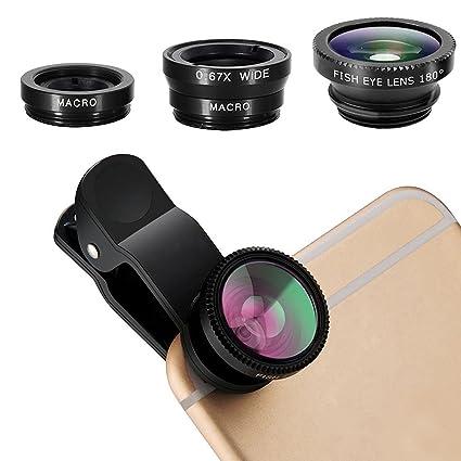 ca0390509ea PUBAMALL 3 en 1 kit de lentes Clip universal para móvil celular,lente macro  y kit ...