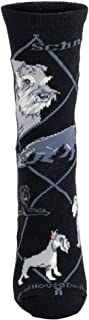 product image for Wheel House Designs Schnauzer Womens Argyle Socks (Shoe size 6-8.5)