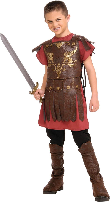 Roman Fighter Boys Fancy Dress Grecian Gladiator Book Week Kids Childs Costumes