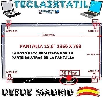 TECLA2XTATIL TC2X Pantalla Compatible DE Y para PORTATIL N156BGA-EA3 Rev.C1 15,6 HD LCD LED 30 Pin EDP 1366X768 Ver Foto