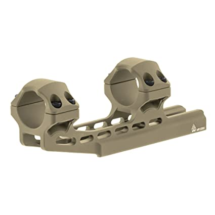 """Leapers ACCU-SYNC 1/"""" High Profile 50mm Offset Picatinny Scope Rings FDE"""