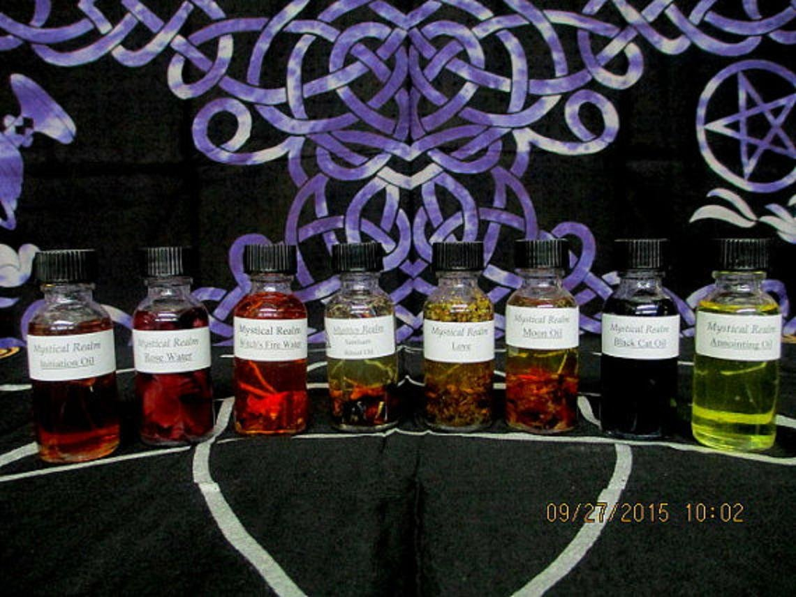 Witch's Potion Set ~ 8 pc. Potion Set ~ Witchcraft Potion Set ~ Basic Witch's Potions ~ Potion Starter Kit ~ Witchcraft Supply ~ Witchcraft