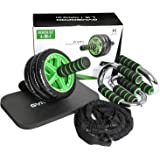 GYMBOPRO 4-in-1 AB Wheel Roller Kit AB Roller for abs Workout- Perfect Abdominal Core Carver Fitness AB Roller for Women&Men