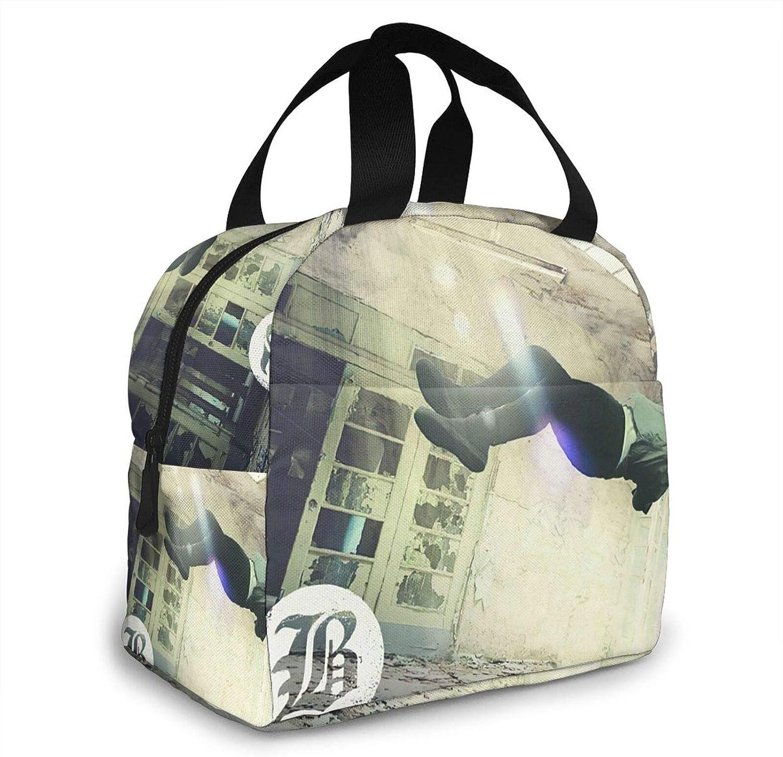 SusanMRobey Be-artooth Ba-nd Portable Insulation Bags for Hot Food Reusable Hip Hop Zipper-Sealed Leak-Proof Portable Thermal Insulation Bag Durable Men and Women Camping Warming Bag