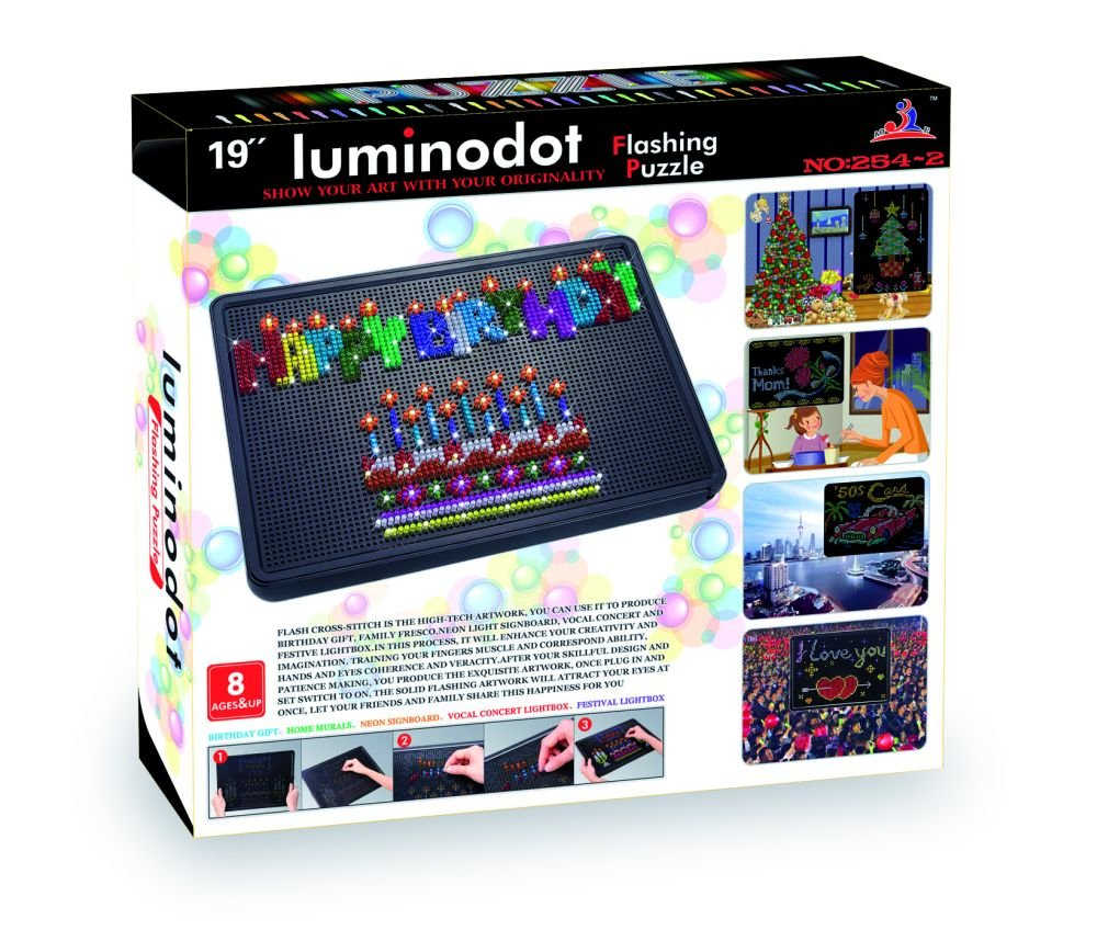 small foot company Puzzle para Ensartar, Luminoso