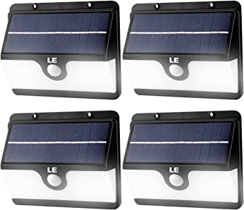 4Pk. Lighting Ever 30 LED Solar Motion Sensor Light