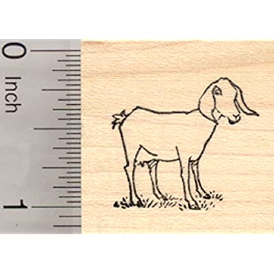 Nubian Goat Rubber Stamp, Small: Arts, Crafts & Sewing