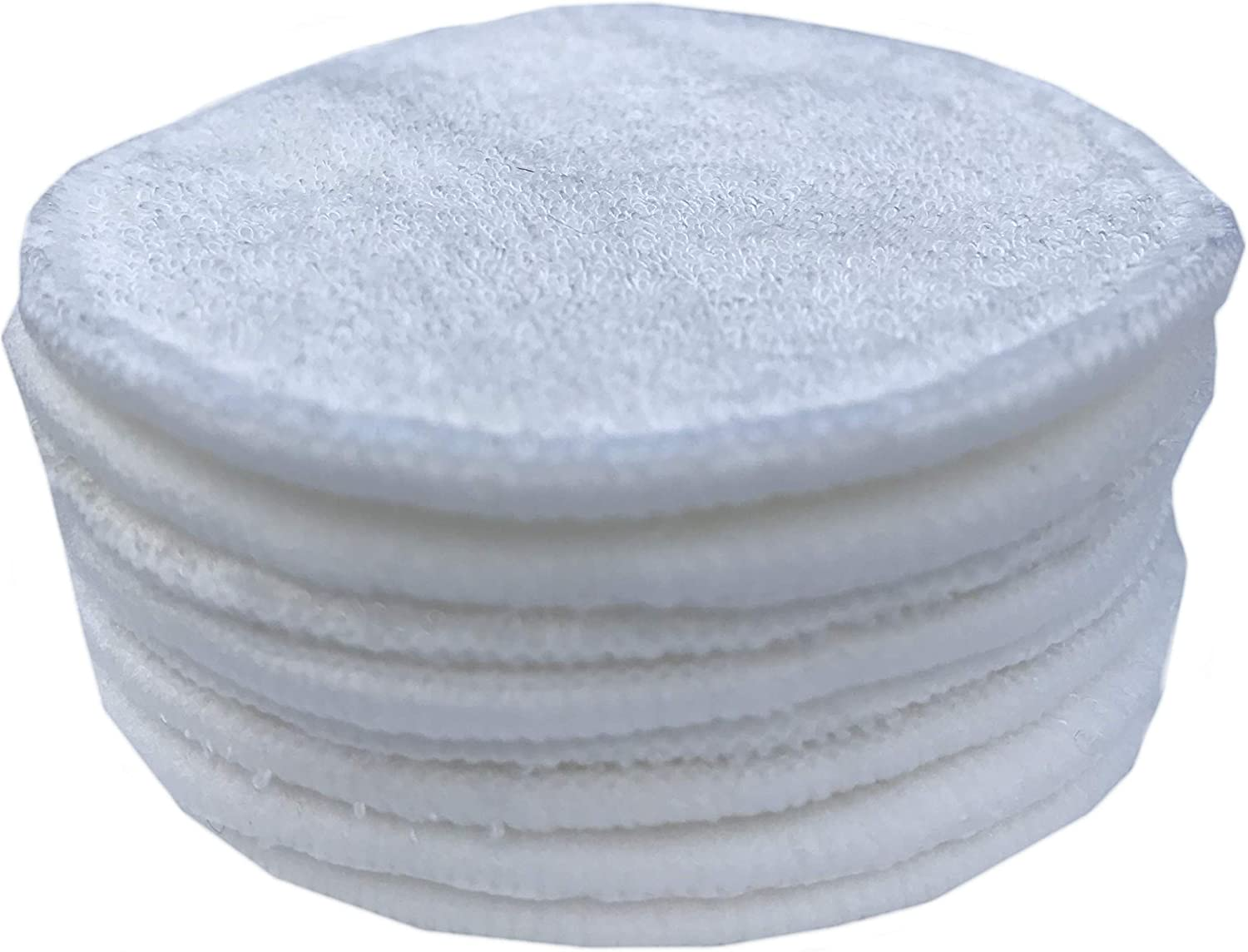 Reusable Make up Remover Pads 16 Bamboo Fibre Round Washable Face Facial Cleansing Wipes including Laundry Bag