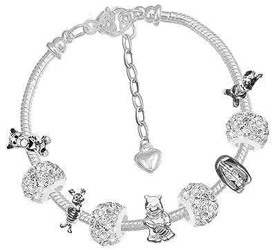 lotta l'atteggiamento migliore stilista Charm Buddy - Bracciale per Bambine Stile Pandora, con Charm dei ...
