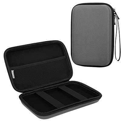 "MoKo 7-Inch GPS Carrying Case, Portable Hard Shell Protective Pouch Storage Bag for Car GPS Navigator Garmin/Tomtom/Magellan with 7"" Display - Space Gray"