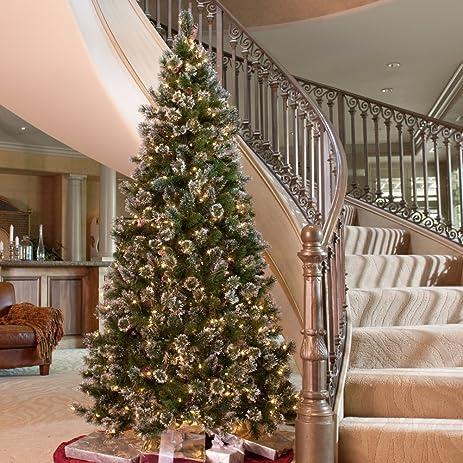 glittery pine slim pre lit christmas tree - Amazon Christmas Tree