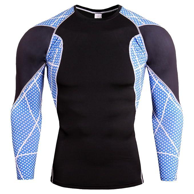 YiJee Herren Sport T-Shirts Lange Ärmel Fitness Kompressionsshirt  Funktionswäsche Base Layer: Amazon.de: Bekleidung