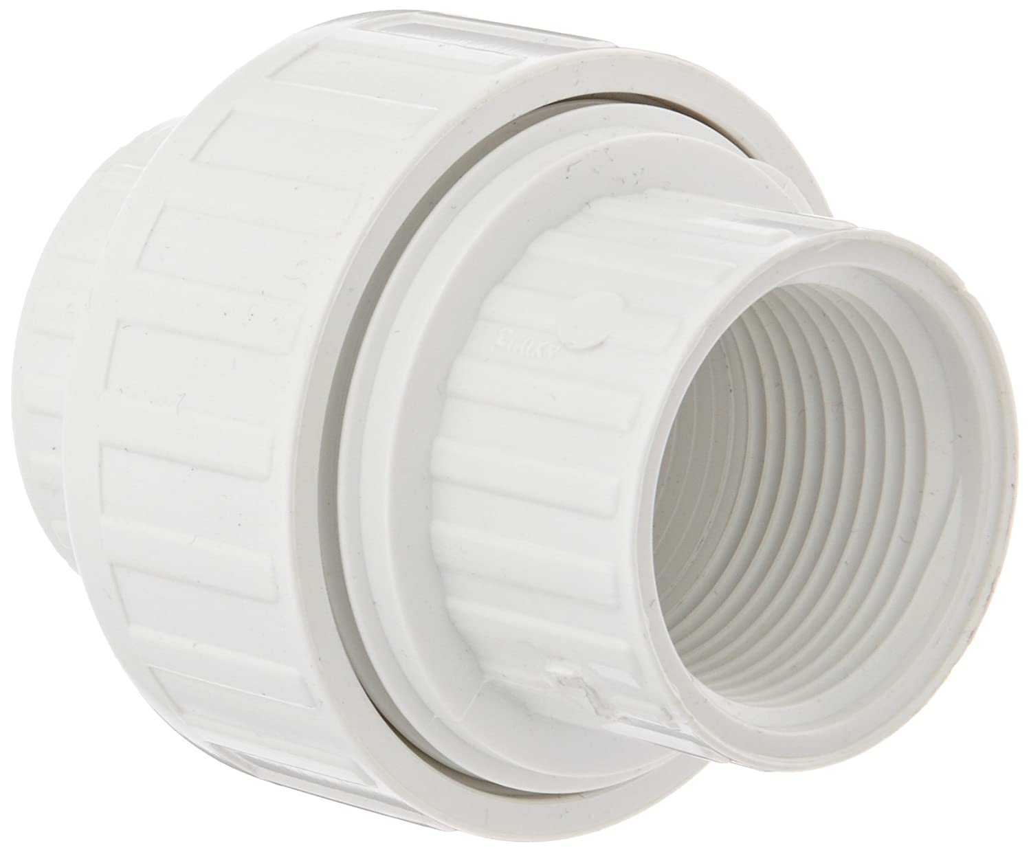 Spears 498 Series PVC Pipe Fitting, Union with EPDM O-Ring, Schedule 40, 1 NPT Female 1 NPT Female Spears Manufacturing 498-010