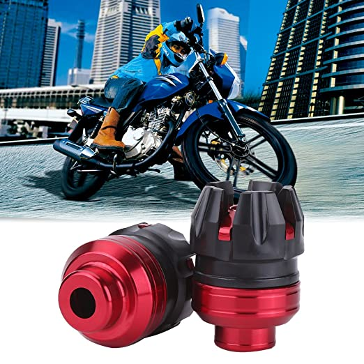 Sliver Universal Motorcycle Falling Protector Explosion-Proof Cap Keenso Aluminum CNC Motorcycle Scooter Front Fork Frame Sliders Crash Cap Protector