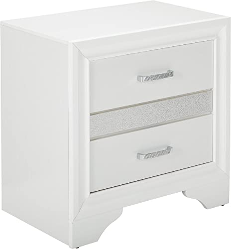 Coaster 205112-CO Miranda 2 Drawer Nightstand, In White