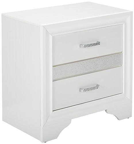 Amazon.com: Coaster Muebles Miranda Mesita de noche con 2 ...