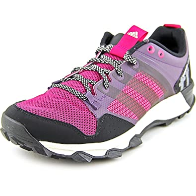 Adidas Womens Kanadia 7 Mesh Lightweight Running Shoes Purple 9.5 Medium  (B,M)