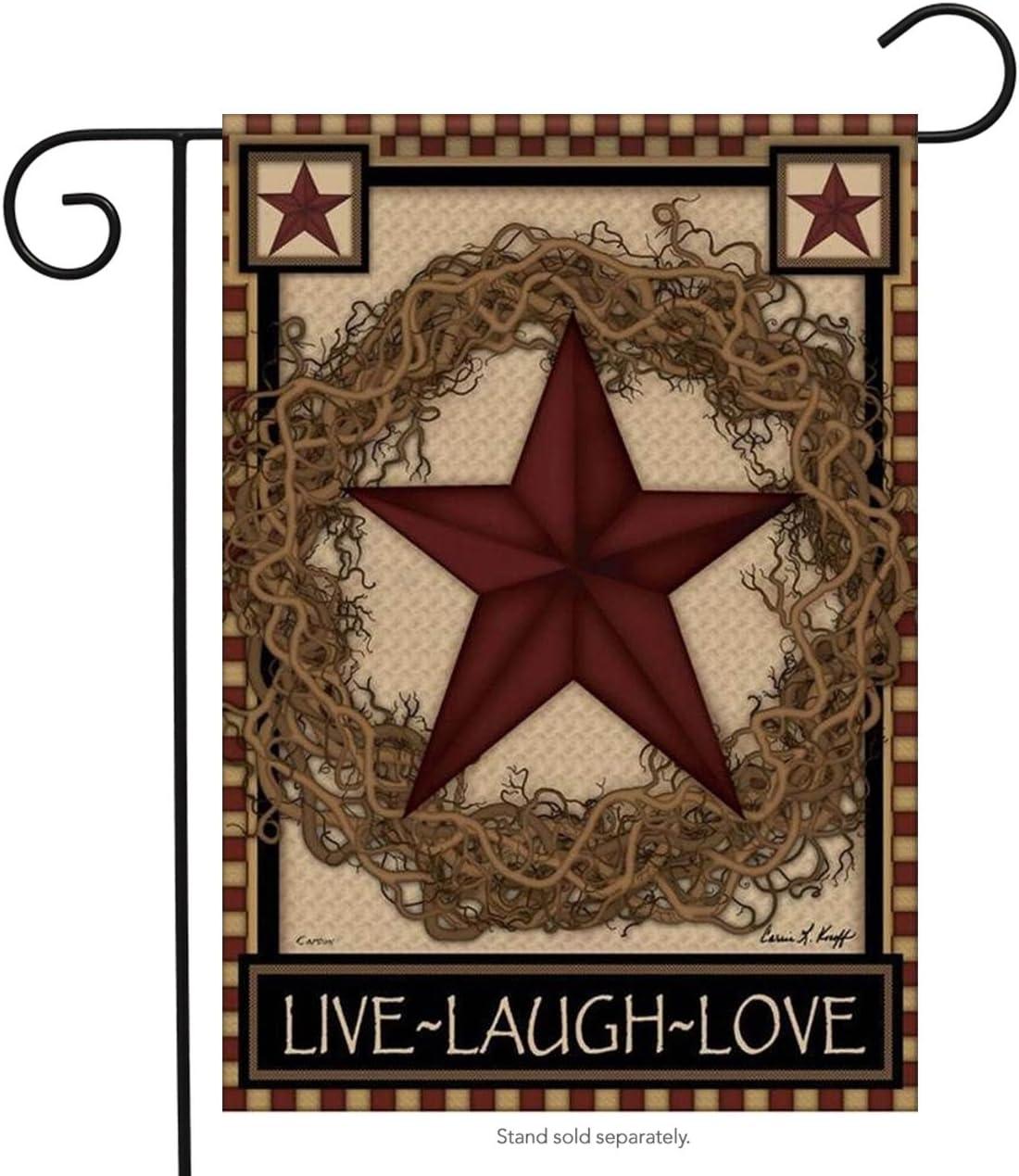 Carson Star Wreath Garden Flag 45206