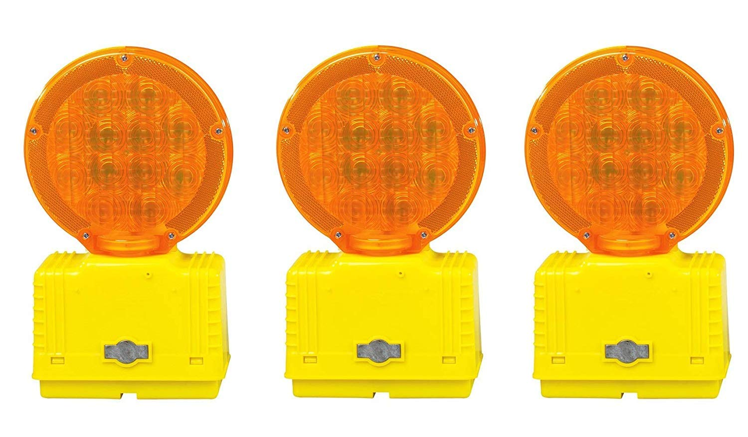 Cortina Strato-Lite LED Barricade Light with Photocell 03-10-3WAYDC, 6 VDC, Amber (Pack of 3)