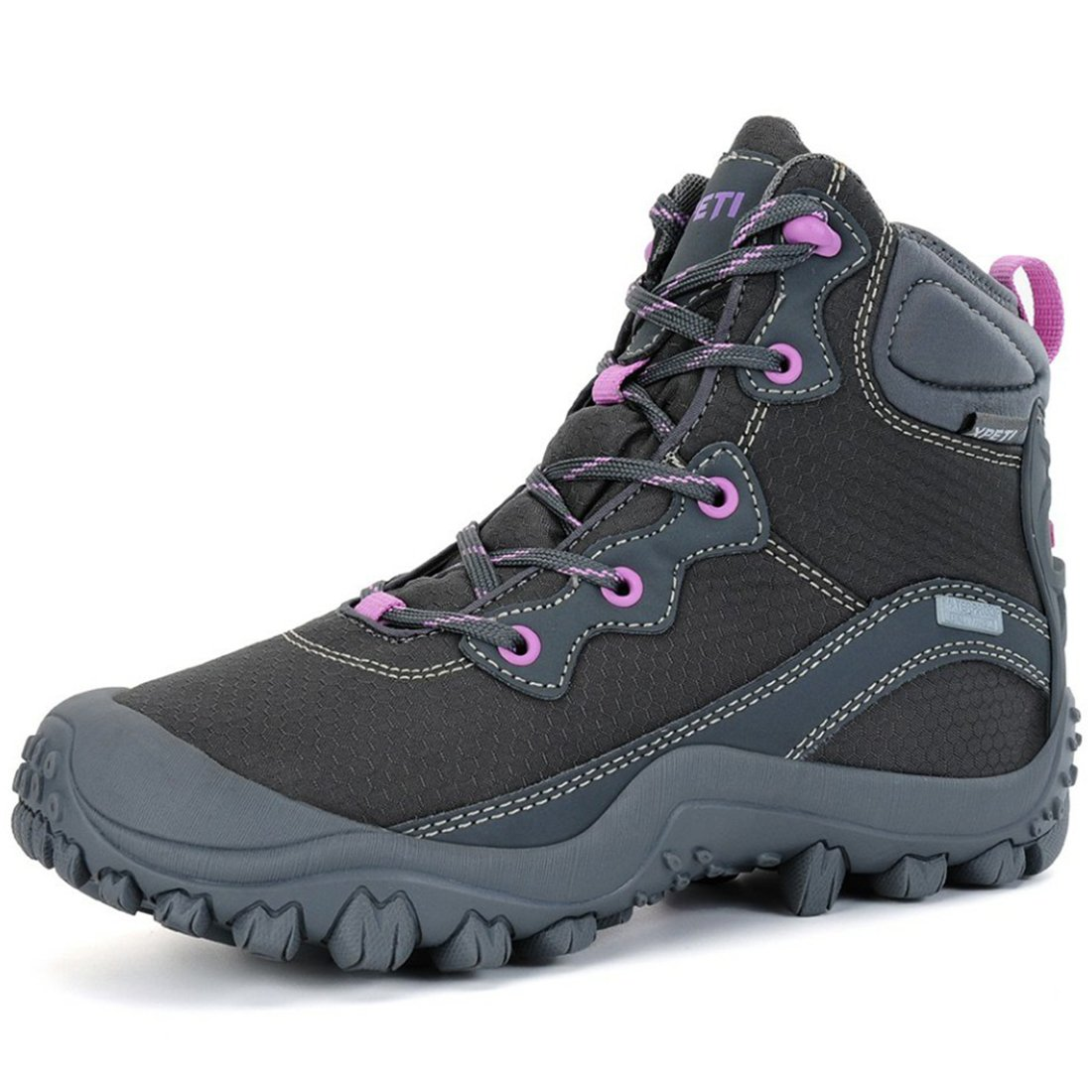 XPETI Women's Dimo Mid Waterproof Hiking Outdoor Boot Gray 10.5 by XPETI