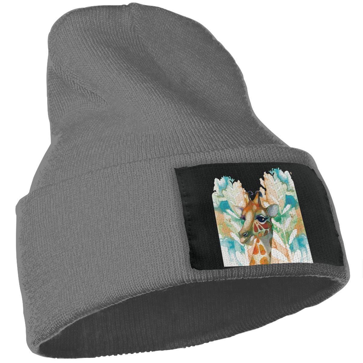 SLADDD1 Watercolor Giraffe Warm Winter Hat Knit Beanie Skull Cap Cuff Beanie Hat Winter Hats for Men /& Women
