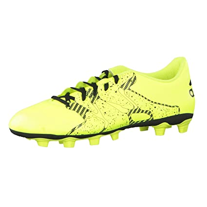 00542a24a6218 Buy adidas B32792 X 15.4 FxG Football Shoes, Men's UK 6 (Yellow/Black)  Online at Low Prices in India - Amazon.in