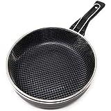 LS Kitchen - Sartén Freidora con Cestillo - Inducción Rápida - 24 cm - Negra