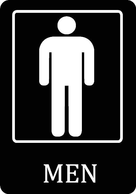 Amazon.com: Hombres baño negro hombre Restroom Sign – Grande ...