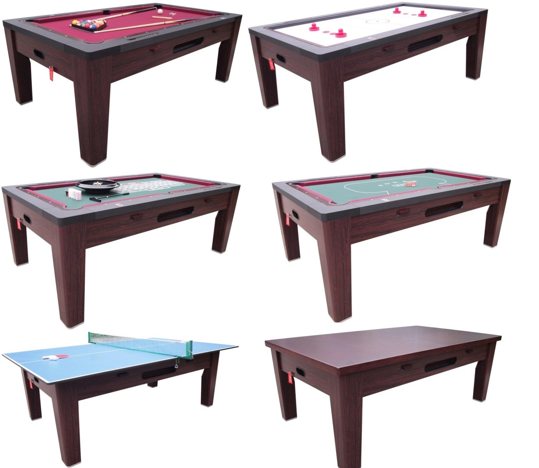 6 in 1 Multi Game Table in Walnut By Berner Billiards